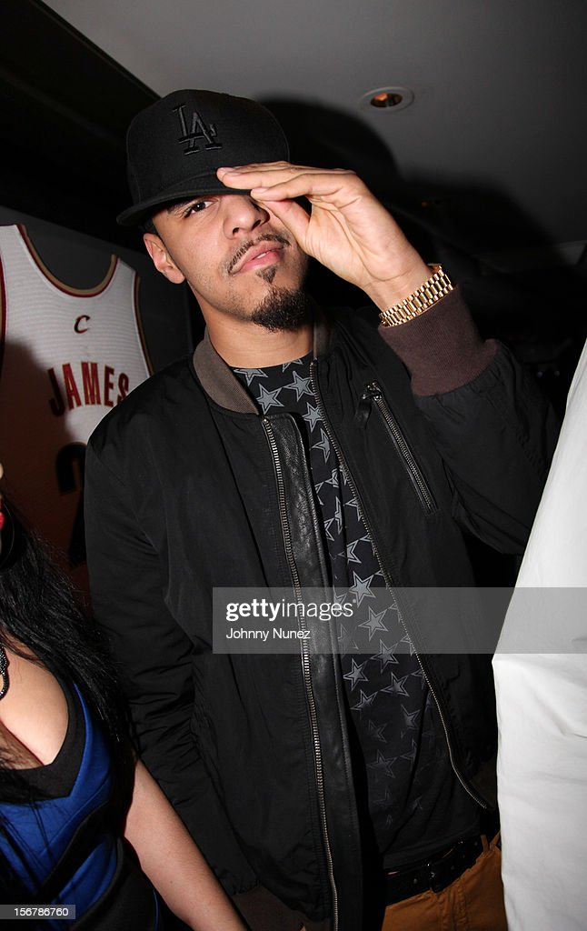 J. Cole attends Rihanna's 'Unapologetic' Record Release Party at 40 / 40 Club on November 20, 2012 in New York City.