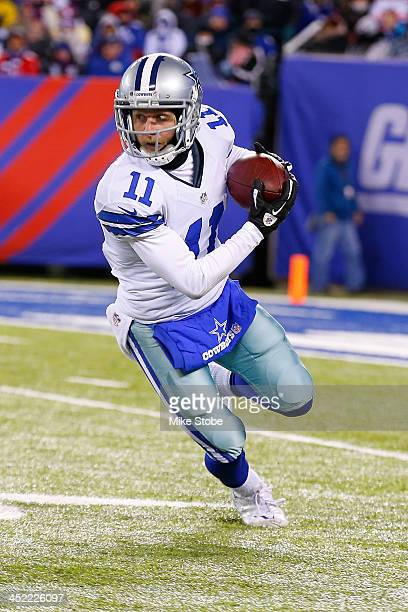 Cole Beasley of the Dallas Cowboys in action against the New York Giants at MetLife Stadium on November 24 2013 in East Rutherford New Jersey Cowboys...