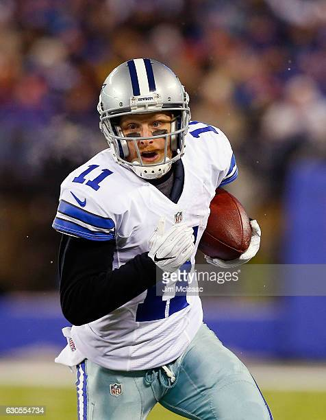 Cole Beasley of the Dallas Cowboys in action against the New York Giants on December 11 2016 at MetLife Stadium in East Rutherford New Jersey The...