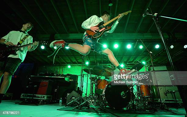 Cole Becker of Emily's Army performs at Yahoo's Brazos Hall during 2014 SXSW Music Film Interactive Festival on March 14 2014 in Austin Texas