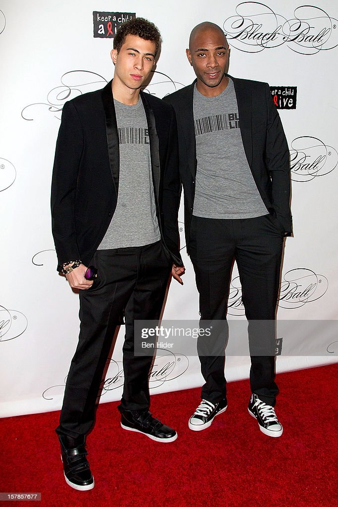 Cole Cook, Alicia Keys brother and Andre Leon King attends the Keep A Child Alive's Black Ball Redux 2012 at The Apollo Theater on December 6, 2012 in New York City.