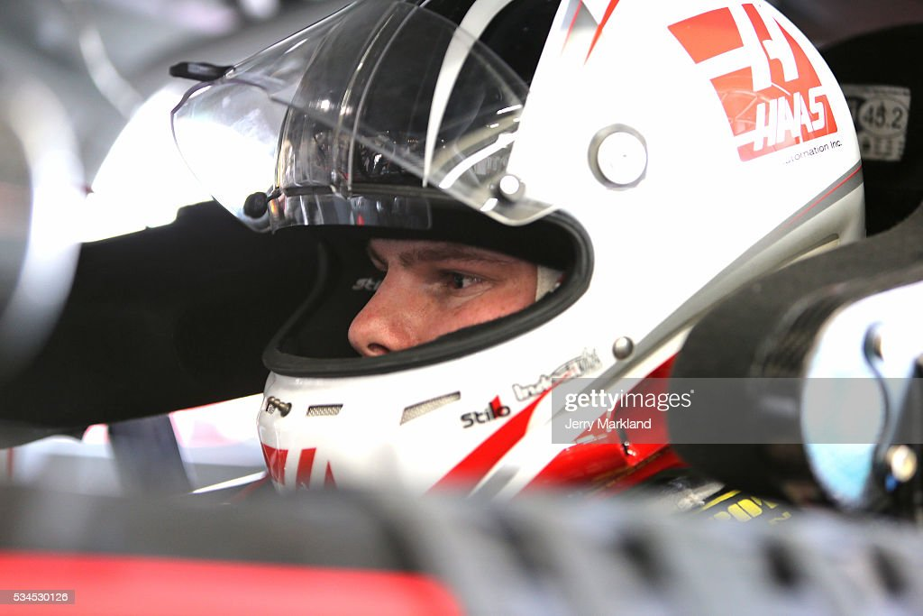 <a gi-track='captionPersonalityLinkClicked' href=/galleries/search?phrase=Cole+Custer&family=editorial&specificpeople=10572895 ng-click='$event.stopPropagation()'>Cole Custer</a>, driver of the #88 Haas Automation Chevrolet, stands in the garage area during practice for the NASCAR XFINITY Series Hisense 4K TV 300 at Charlotte Motor Speedway on May 27, 2016 in Charlotte, North Carolina.