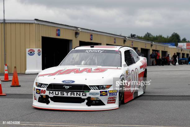 Cole Custer Xfinity Series driver of the Haas Automation Ford heads for the track during practice for the Overton's 200 NASCAR Xfinity Series race on...