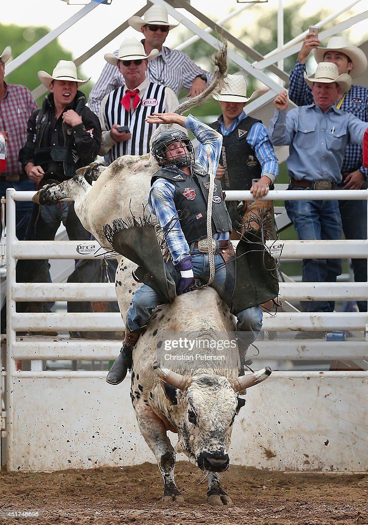 Cole Echols competes in the Bull Riding at the Prescott Frontier Days 'World's Oldest Rodeo' on July 5, 2014 in Prescott, Arizona.