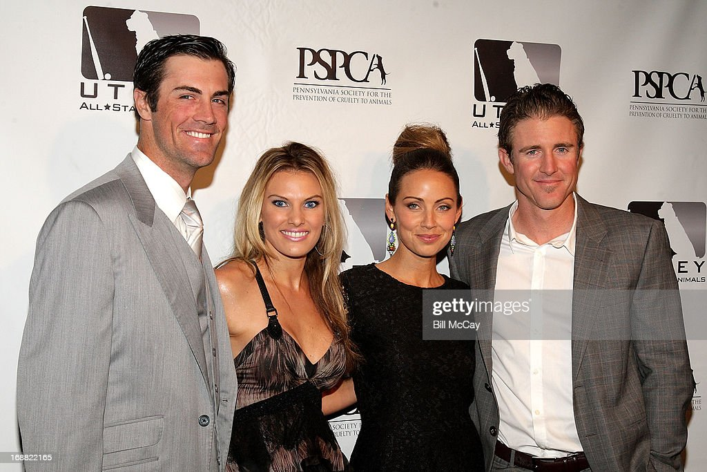<a gi-track='captionPersonalityLinkClicked' href=/galleries/search?phrase=Cole+Hamels&family=editorial&specificpeople=565675 ng-click='$event.stopPropagation()'>Cole Hamels</a>, Heidi Hamels, Jennifer Utley and <a gi-track='captionPersonalityLinkClicked' href=/galleries/search?phrase=Chase+Utley&family=editorial&specificpeople=161391 ng-click='$event.stopPropagation()'>Chase Utley</a> attend the 6th Annual Utley All-Star Animals Casino Night to benefit the Pennsylvania SPCA at The Electric Factory May 15, 2013 in Philadelphia, Pennsylvania.