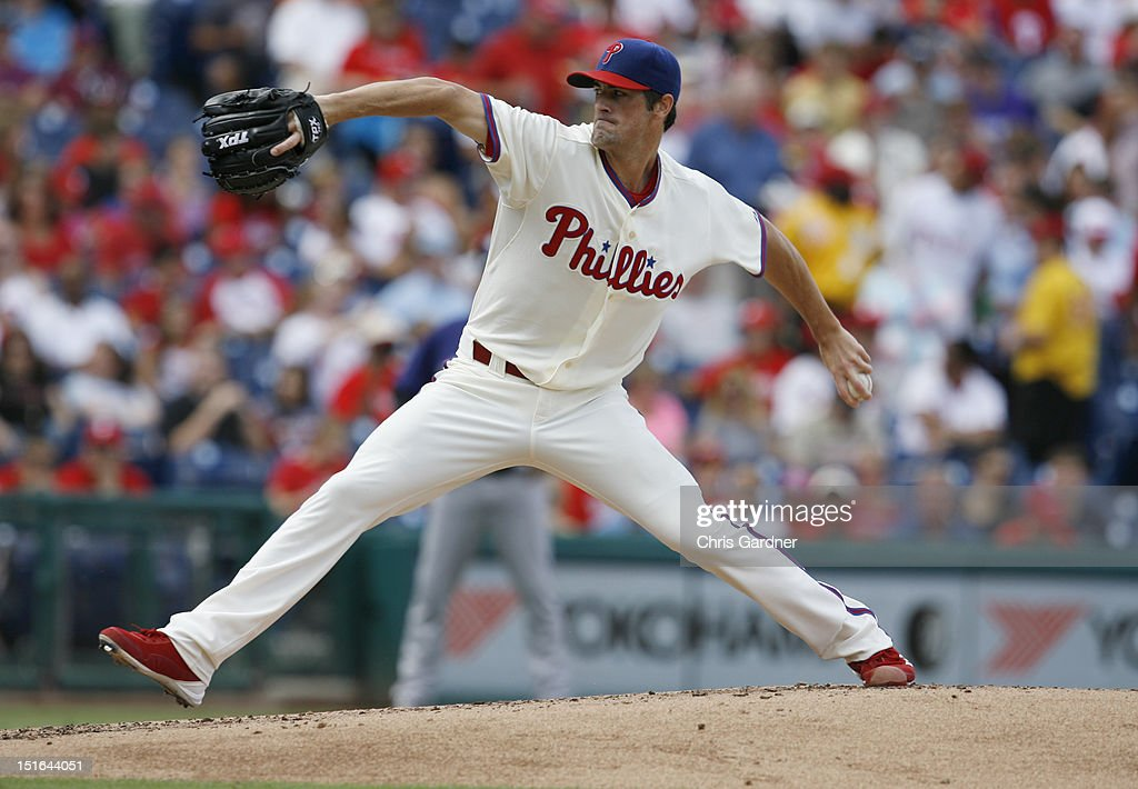 <a gi-track='captionPersonalityLinkClicked' href=/galleries/search?phrase=Cole+Hamels&family=editorial&specificpeople=565675 ng-click='$event.stopPropagation()'>Cole Hamels</a> #35 of the Philadelphia Phillies delivers a pitch against the Colorado Rockies at Citizens Bank Park on September 9, 2012 in Philadelphia, Pennsylvania.