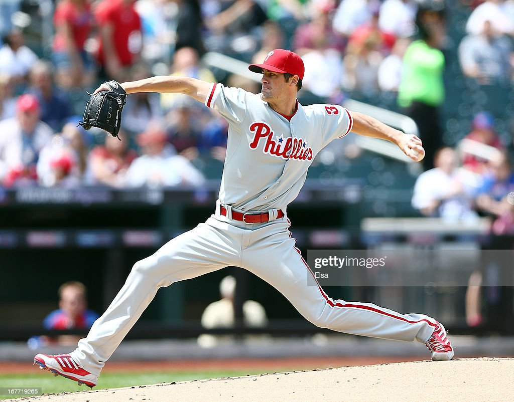 <a gi-track='captionPersonalityLinkClicked' href=/galleries/search?phrase=Cole+Hamels&family=editorial&specificpeople=565675 ng-click='$event.stopPropagation()'>Cole Hamels</a> #35 of the Philadelphia Phillies delivers a pitch in the first inning against the New York Mets on April 28, 2013 at Citi Field in the Flushing neighborhood of the Queens borough of New York City.