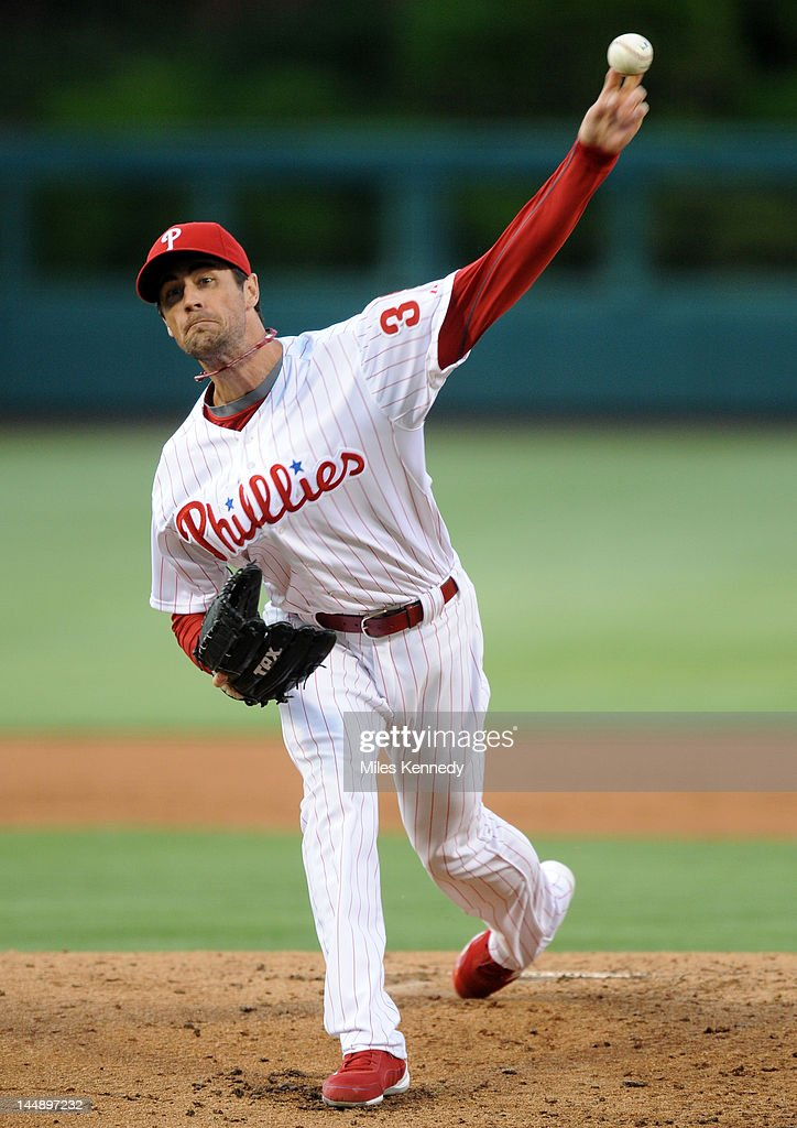 <a gi-track='captionPersonalityLinkClicked' href=/galleries/search?phrase=Cole+Hamels&family=editorial&specificpeople=565675 ng-click='$event.stopPropagation()'>Cole Hamels</a> #35 of the Philadelphia Phillies pitches against the Boston Red Sox in the first inning on May 18, 2012 at Citizens Bank Park in Philadelphia, Pennsylvania. The Phillies won 6-4.