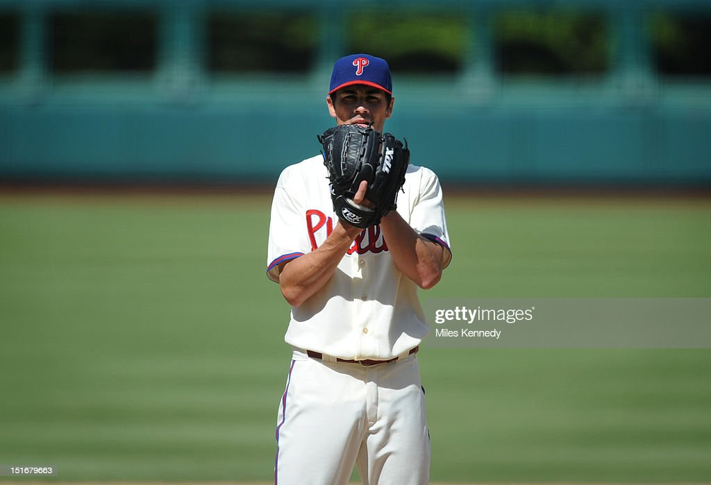 <a gi-track='captionPersonalityLinkClicked' href=/galleries/search?phrase=Cole+Hamels&family=editorial&specificpeople=565675 ng-click='$event.stopPropagation()'>Cole Hamels</a> #35 of the Philadelphia Phillies pitches against the Colorado Rockies during the fifth inning on September 9, 2012 at Citizens Bank Park in Philadelphia, Pennsylvania. The Phillies won 3-2.