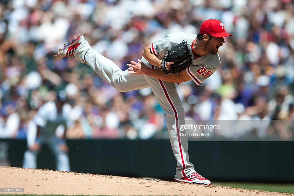 <a gi-track='captionPersonalityLinkClicked' href=/galleries/search?phrase=Cole+Hamels&family=editorial&specificpeople=565675 ng-click='$event.stopPropagation()'>Cole Hamels</a> #35 of the Philadelphia Phillies pitches against the Colorado Rockies at Coors Field on June 16, 2013 in Denver, Colorado. The Rockies beat the Phillies 5-2.