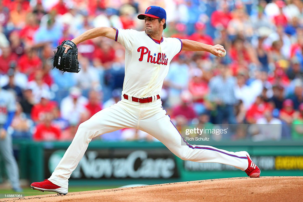 <a gi-track='captionPersonalityLinkClicked' href=/galleries/search?phrase=Cole+Hamels&family=editorial&specificpeople=565675 ng-click='$event.stopPropagation()'>Cole Hamels</a> #35 of the Philadelphia Phillies pitches against the Los Angeles Dodgers in a MLB baseball game on June 7, 2012 at Citizens Bank Park in Philadelphia, Pennsylvania.