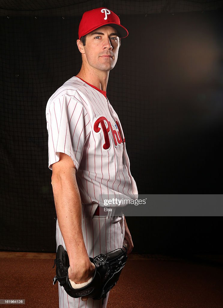 Cole Hamels #35 of the Philadelphia Phillies poses for a portrait on February 18, 2013 at Bright House Field in Clearwater, Florida.
