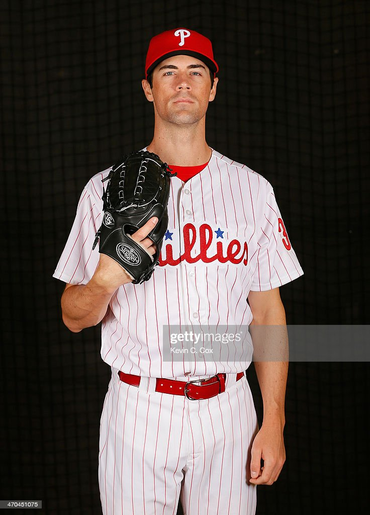 Cole Hamels #35 of the Philadelphia Phillies poses for a portrait on February 19, 2014 at Bright House Field in Clearwater, Florida.