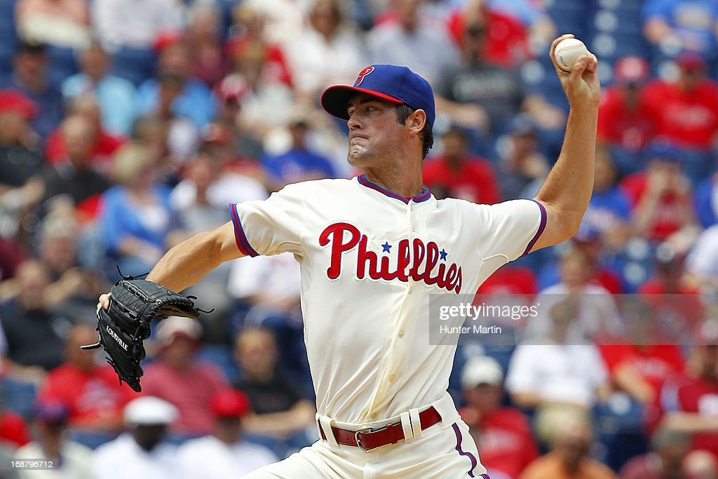 Cole Hamels #35 of the Philadelphia Phillies throws a pitch during a game against the Cleveland Indians at Citizens Bank Park on May 15, 2013 in Philadelphia, Pennsylvania.