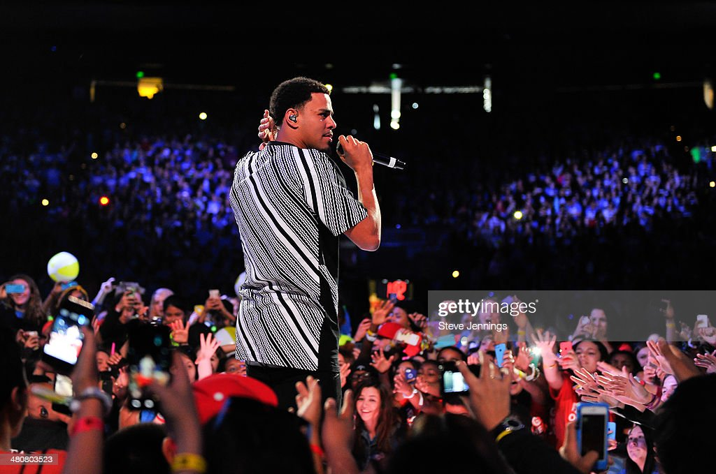 <a gi-track='captionPersonalityLinkClicked' href=/galleries/search?phrase=J.+Cole&family=editorial&specificpeople=5958978 ng-click='$event.stopPropagation()'>J. Cole</a> in Oakland, CA performs to 16,000 students and educators at the first We Day California at ORACLE Arena on March 26, 2014 in Oakland, California.