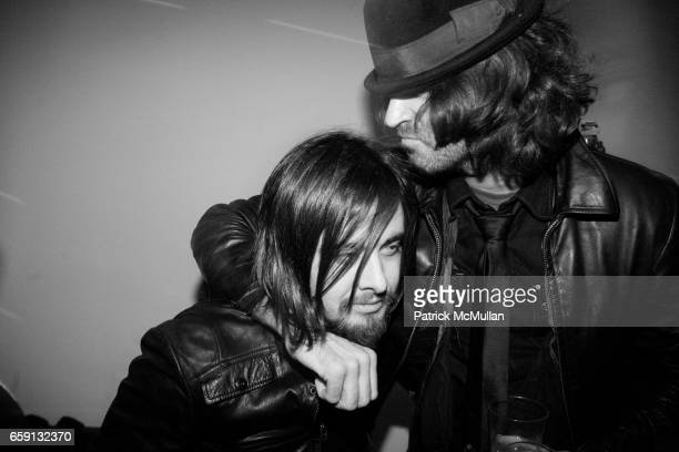 Cole Miller and Sean Ramsay attend RADAR ENTERTAINMENT THE LAST MAGAZINE Toast Fashion Week at Studio 385 Broadway on February 20 2009 in New York...