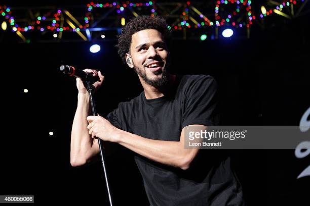 J Cole performed at Power 1061 Cali Christmas at The Forum on December 5 2014 in Inglewood California