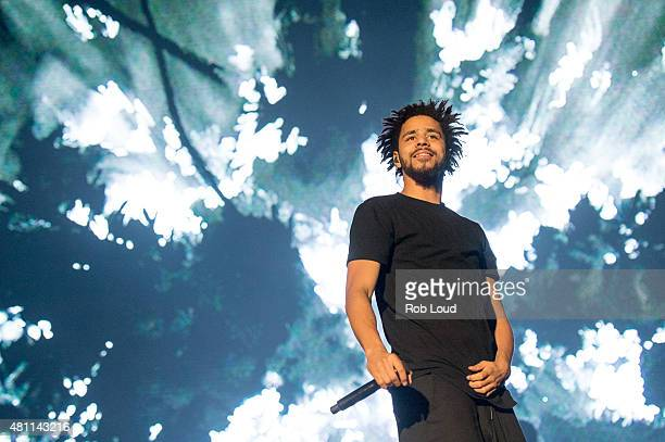 J Cole performs at the Pemberton Music Festical on July 16 2015 in Pemberton Canada