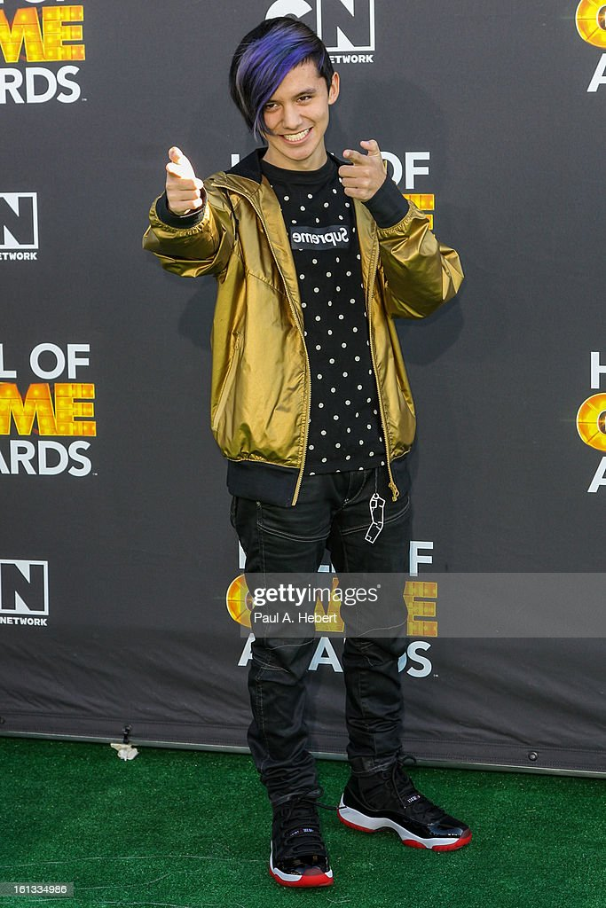 DJ Cole Plante arrives at the 3rd Annual Cartoon Network's 'Hall Of Game' Awards held at Barker Hangar on February 9, 2013 in Santa Monica, California.