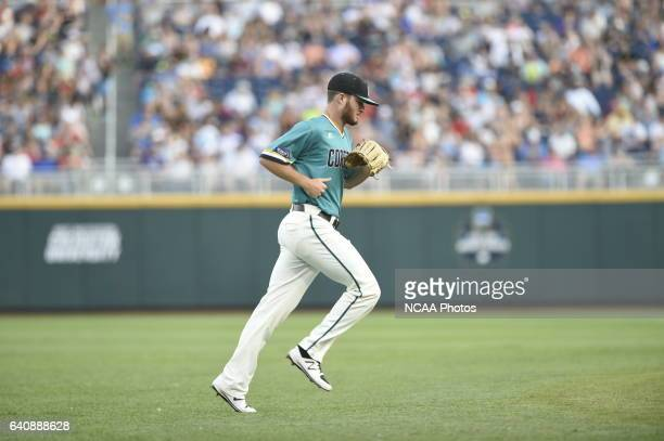 Cole Schaefer of Coastal Carolina University comes in for relief against University of Arizona during the Division I Men's Baseball Championship held...