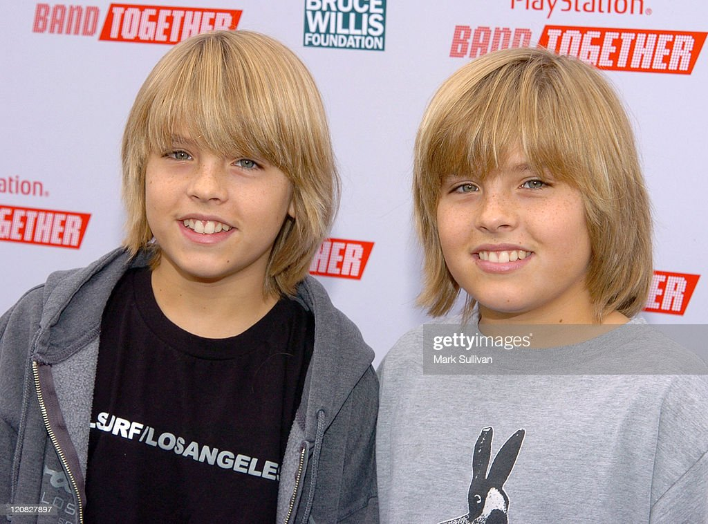 <a gi-track='captionPersonalityLinkClicked' href=/galleries/search?phrase=Cole+Sprouse&family=editorial&specificpeople=540255 ng-click='$event.stopPropagation()'>Cole Sprouse</a> and <a gi-track='captionPersonalityLinkClicked' href=/galleries/search?phrase=Dylan+Sprouse&family=editorial&specificpeople=540254 ng-click='$event.stopPropagation()'>Dylan Sprouse</a> during BANDtogether Presented by PlayStation - Arrivals at Smashbox Studios in Culver City, California, United States.