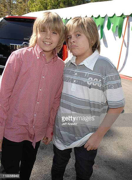 Cole Sprouse and Dylan Sprouse during Nickelodeon's 20th Annual Kids' Choice Awards Orange Carpet at Pauley Pavilion UCLA in Westwood California...