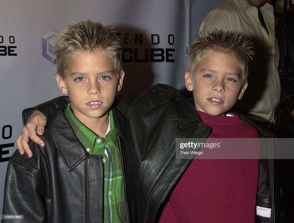 <a gi-track='captionPersonalityLinkClicked' href=/galleries/search?phrase=Cole+Sprouse&family=editorial&specificpeople=540255 ng-click='$event.stopPropagation()'>Cole Sprouse</a> and <a gi-track='captionPersonalityLinkClicked' href=/galleries/search?phrase=Dylan+Sprouse&family=editorial&specificpeople=540254 ng-click='$event.stopPropagation()'>Dylan Sprouse</a> during Nintendo Gamecube Launch Party in New York city in New York City, New York, United States.