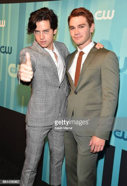 Cole Sprouse and KJ Apa attend The CW Network's 2017 Upfront at The London Hotel on May 18 2017 in New York City
