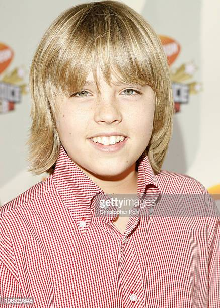 Cole Sprouse during Nickelodeon's 20th Annual Kids' Choice Awards Orange Carpet at Pauley Pavilion UCLA in Westwood California United States
