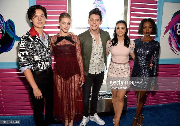 Cole Sprouse Lili Reinhart Casey Cott Camila Mendes and Ashleigh Murray attend the Teen Choice Awards 2017 at Galen Center on August 13 2017 in Los...
