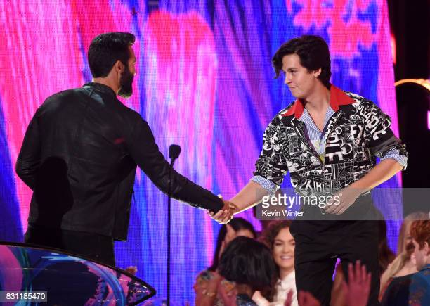 Cole Sprouse speaks onstage during the Teen Choice Awards 2017 at Galen Center on August 13 2017 in Los Angeles California