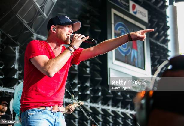 Cole Swindell performs at DTE Energy Music Theater on June 19 2014 in Clarkston Michigan