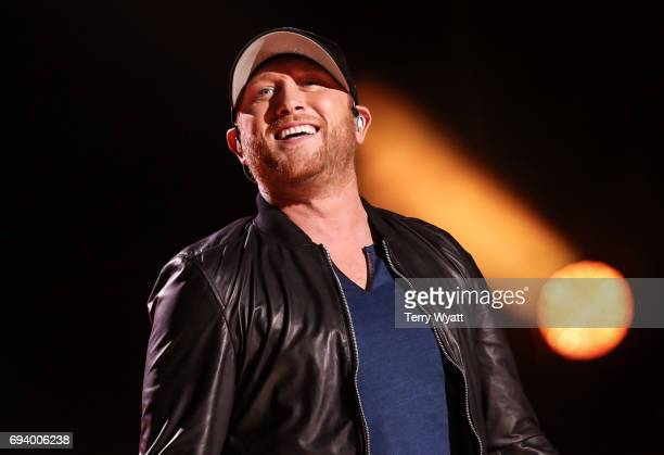 Cole Swindell performs during day 1 of the 2017 CMA Music Festival on June 8 2017 in Nashville Tennessee