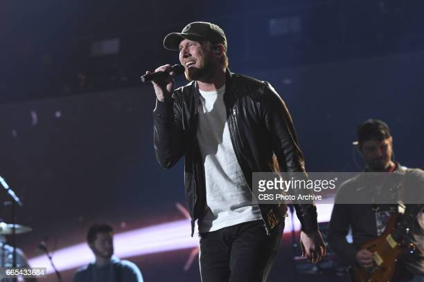 Cole Swindell performs during rehearsal for THE 52ND ACADEMY OF COUNTRY MUSIC AWARDS scheduled to air LIVE from TMobile Arena in Las Vegas Sunday...