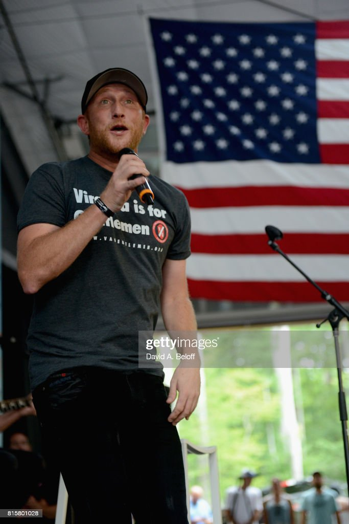 Cole Swindell performs live at Camp Grom's TowneBank Sportsplex for Everybody on July 16, 2017 in Virginia Beach, Virginia.