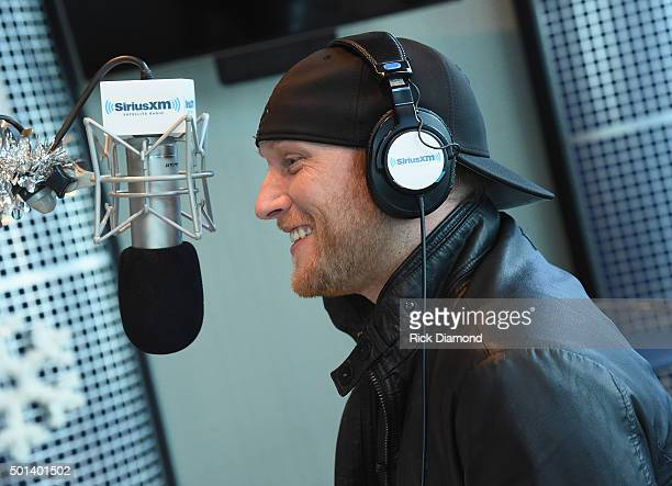 Cole Swindell Visits Buzz Brainard at SiriusXM Nashville on December 14 2015 in New York City
