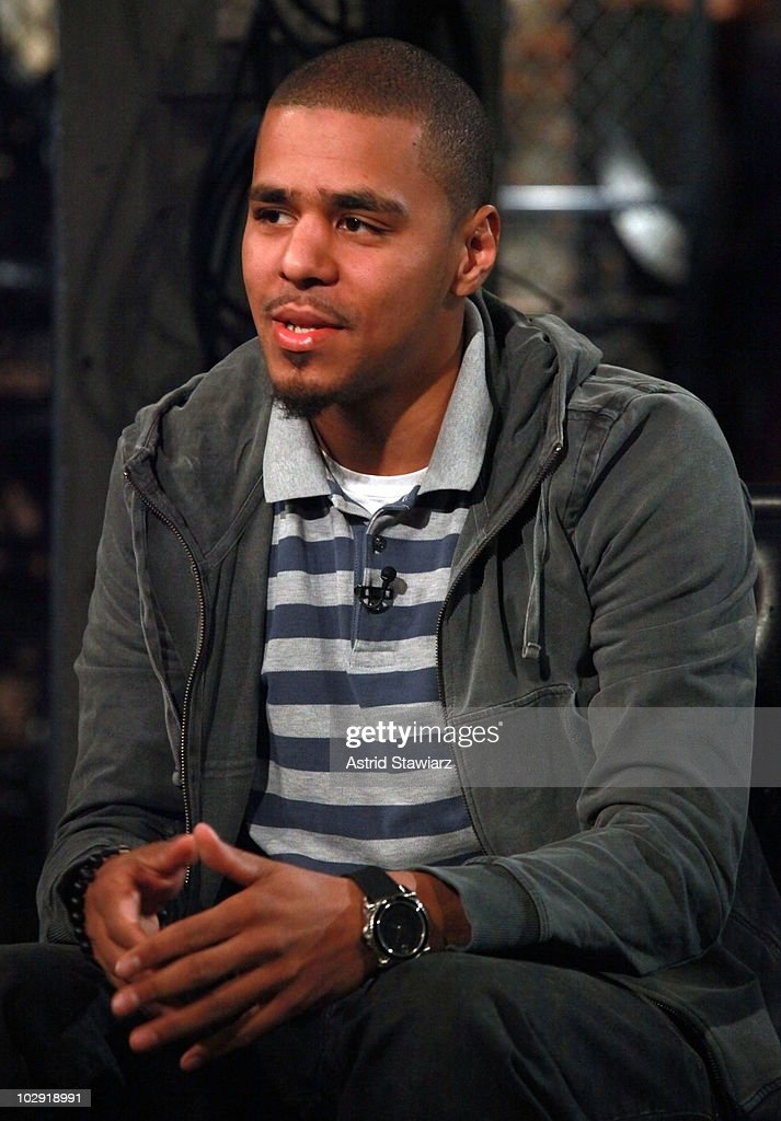J. Cole visits Fuse's 'Hip Hop Shop' to tape an episode, airing July 21, 2010, at fuse Studios on July 15, 2010 in New York City.