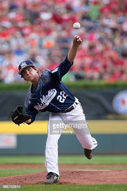 Cole Wagner of the MidAtlantic Team from Red Land Little League pitches during the US Championship game against the Southwest team from Pearland West...