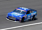 Cole Whitt driver of the Speed Stick Ford practices for the NASCAR Sprint Cup Series CocaCola 600 at Charlotte Motor Speedway on May 21 2015 in...