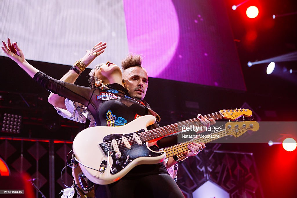 Cole Whittle and JinJoo Lee of DNCE perform onstage at TD Banknorth Garden on December 11, 2016 in Boston, Massachusetts.