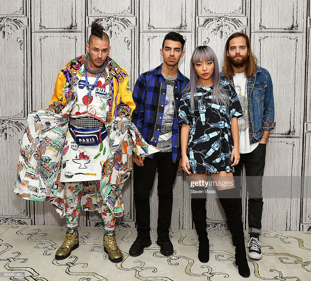 Cole Whittle, Joe Jonas, JinJoo Lee and Jack Lawless of 'DNCE' visit AOL BUILD at AOL HQ on November 18, 2016 in New York City.