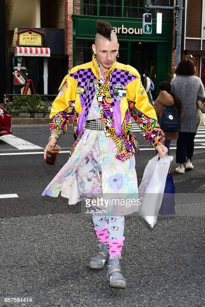 Cole Whittle of DNCE sighting in Harajuku street on March 25 2017 in Tokyo Japan