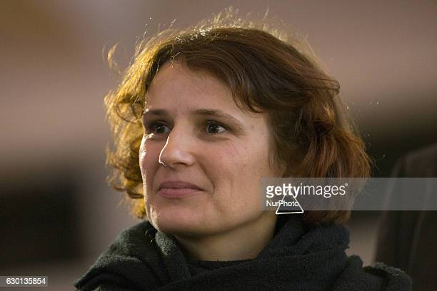 Coleader of Die Linke party Katja Kipping is pictured during the 5th congress of the Party of the European Left in Berlin Germany on December 17 2016...