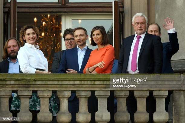 Coleader of the German Green Party Anton Hofreiter Free Democratic Party Secretary General Nicola Beer Free Democrats Party leader Christian Lindner...