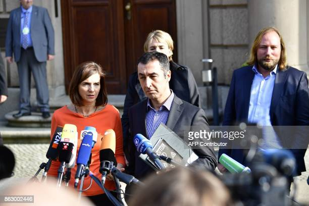 Coleaders of the Green Party Katrin GoeringEckardt and Cem Ozdemir Federal cochairwoman of the Greens Simone Peter and Parliamentary group coleader...