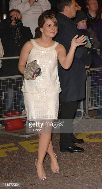 Coleen McLoughlin during An Audience with Take That Arrivals at The London Television Centre in London Great Britain