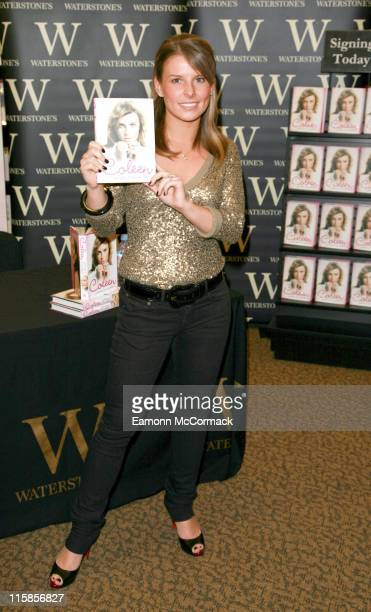 Coleen McLoughlin during Coleen McLoughlin Signs Copies of Her Book 'Welcome To My World' at Waterstone's in London March 8 2007 at Waterstone's in...