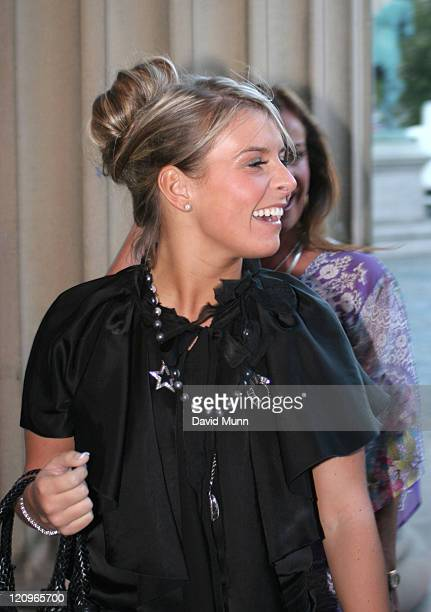 Coleen McLoughlin during Cricket Fashion Show Arrivals at St George's Hall in Liverpool Great Britain