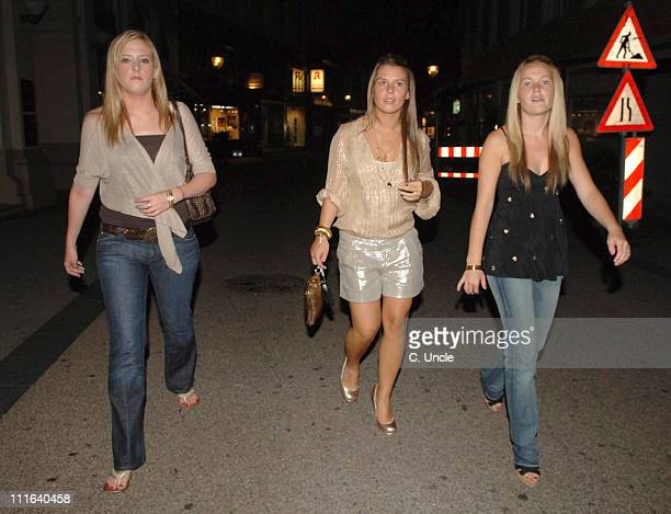 Coleen McLoughlin during England Players Wives and Girlfriends Enjoy a Night Out at Restaurant and Local Bar June 29 2006 at Brenner Park Hotel in...
