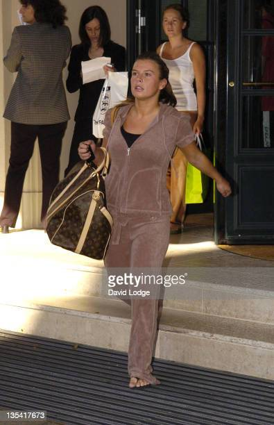 Coleen McLoughlin during England Players Wives and Girlfriends Leave for the England vs Portugal game July 1 2006 at Brenner Park Hotel in BadenBaden...